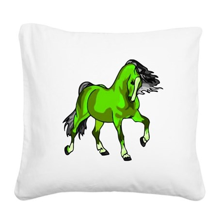 horse4.png Square Canvas Pillow