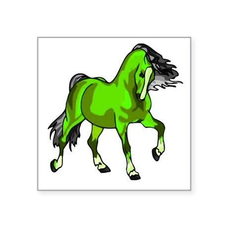 "horse4.png Square Sticker 3"" x 3"""