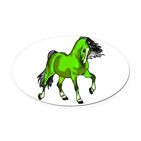 horse4.png Oval Car Magnet