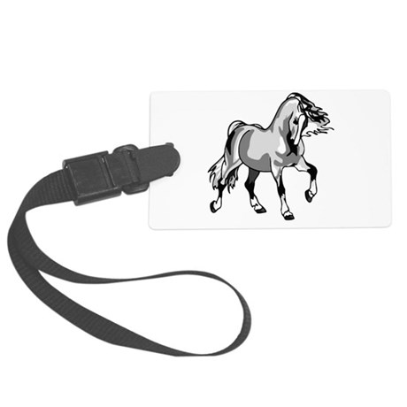 horse3a.png Large Luggage Tag