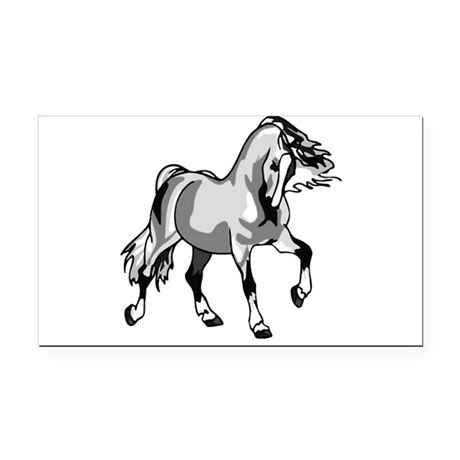 horse3a.png Rectangle Car Magnet