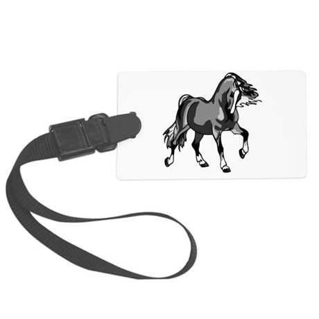 horse3.png Large Luggage Tag