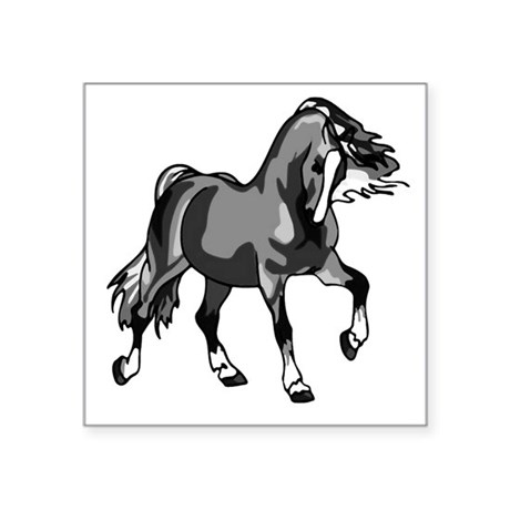 "horse3.png Square Sticker 3"" x 3"""
