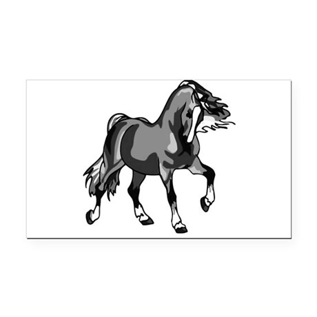 horse3.png Rectangle Car Magnet