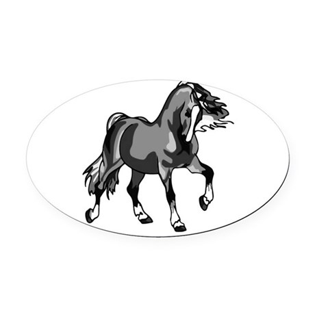 horse3.png Oval Car Magnet