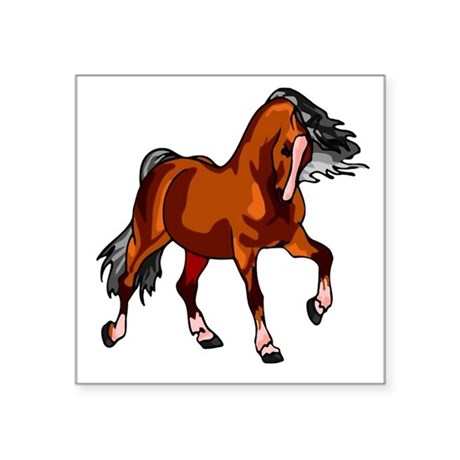 horse.png Square Sticker 3&quot; x 3&quot;