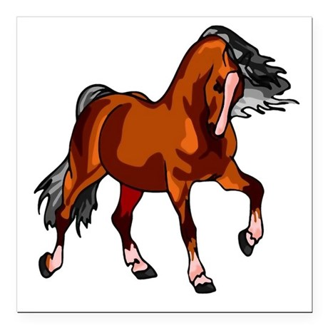 horse.png Square Car Magnet 3&quot; x 3&quot;