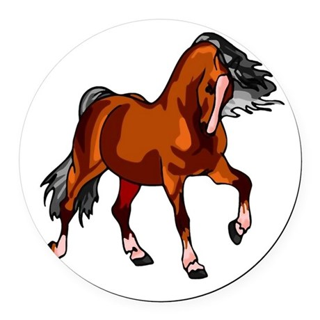 horse.png Round Car Magnet