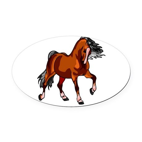 horse.png Oval Car Magnet