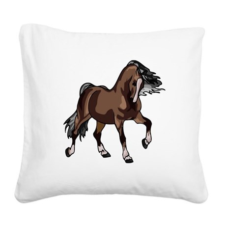 horse2 Square Canvas Pillow