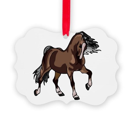 horse2 Picture Ornament