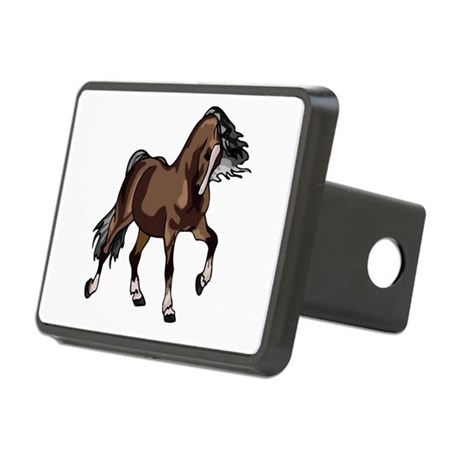horse2 Rectangular Hitch Cover