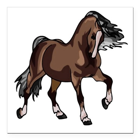 "horse2 Square Car Magnet 3"" x 3"""