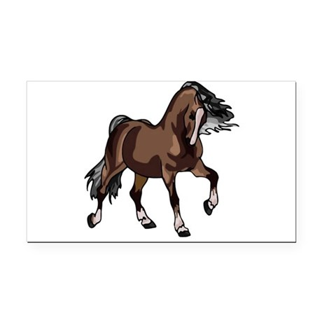 horse2 Rectangle Car Magnet