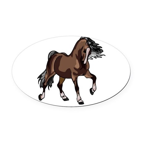 horse2 Oval Car Magnet