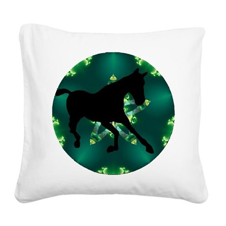 Horse Square Canvas Pillow