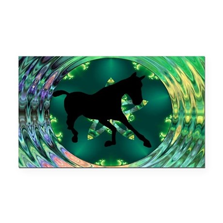 Horse Rectangle Car Magnet