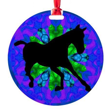 Kaleidoscope Horse Round Ornament