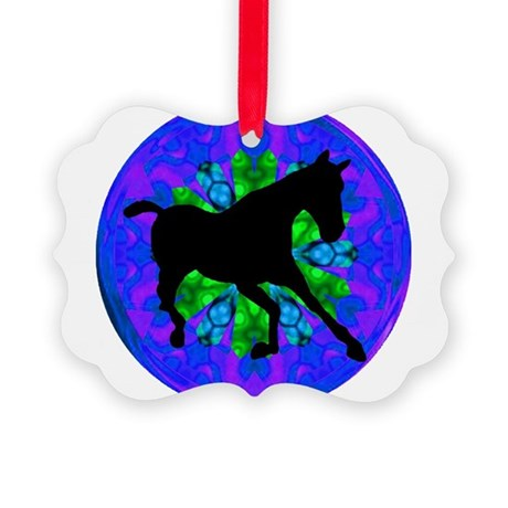 Kaleidoscope Horse Picture Ornament