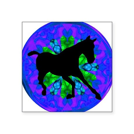 "Kaleidoscope Horse Square Sticker 3"" x 3"""