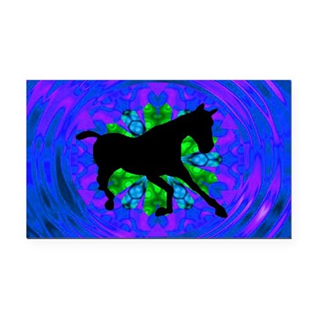 Kaleidoscope Horse Rectangle Car Magnet