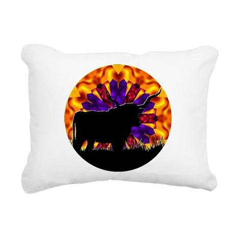 Longhorn Rectangular Canvas Pillow