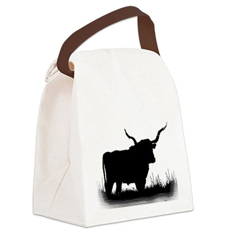Longhorn Canvas Lunch Bag