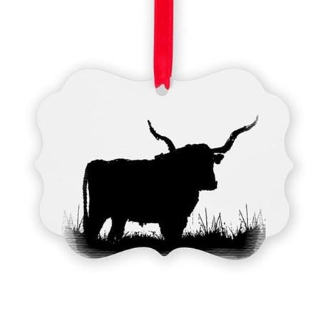 Longhorn Picture Ornament