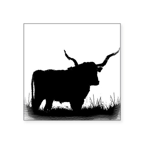 "Longhorn Square Sticker 3"" x 3"""