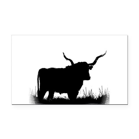 Longhorn Rectangle Car Magnet