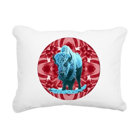 buffalo.png Rectangular Canvas Pillow