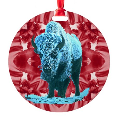 buffalo.png Round Ornament