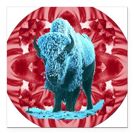 "buffalo.png Square Car Magnet 3"" x 3"""