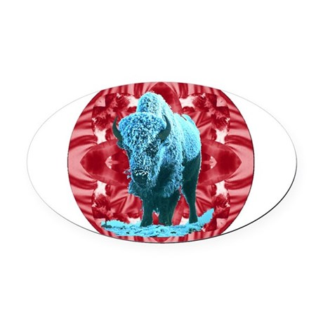 buffalo.png Oval Car Magnet