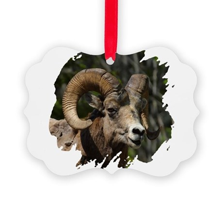bighorn.png Picture Ornament