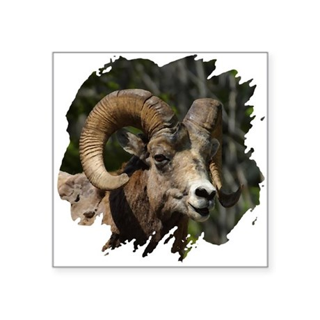 "bighorn.png Square Sticker 3"" x 3"""