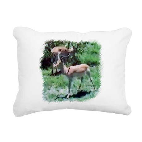 Gazelle Rectangular Canvas Pillow