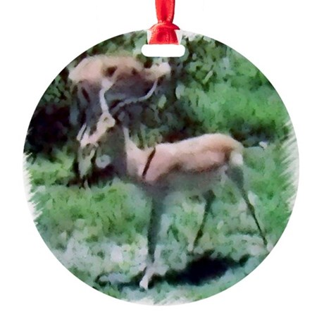 Gazelle Round Ornament