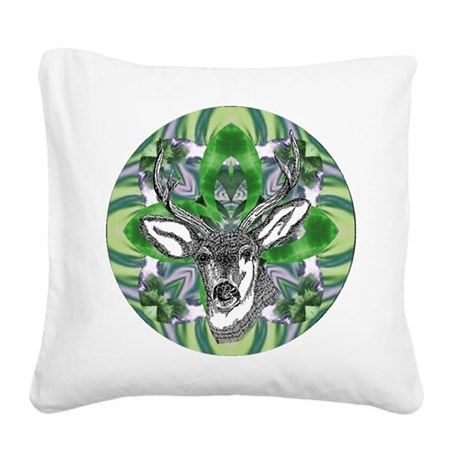 deer6.png Square Canvas Pillow