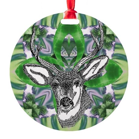 deer6.png Round Ornament