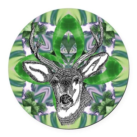 deer6.png Round Car Magnet