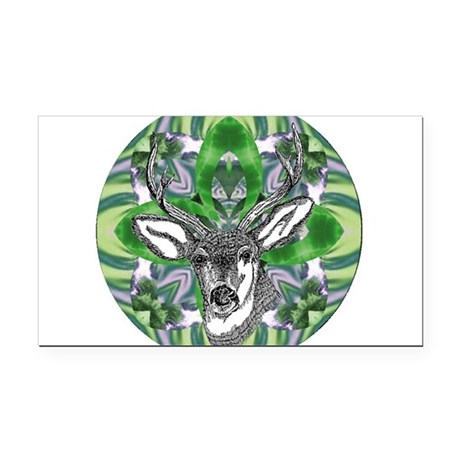 deer6.png Rectangle Car Magnet
