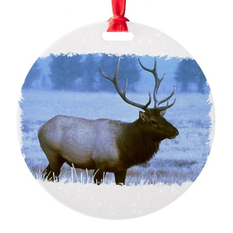 elk Round Ornament