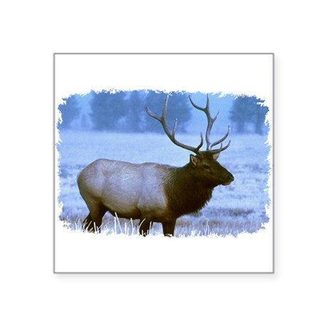 "elk Square Sticker 3"" x 3"""