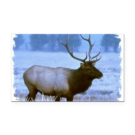 elk Rectangle Car Magnet