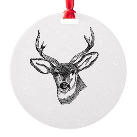3-deer7.png Round Ornament