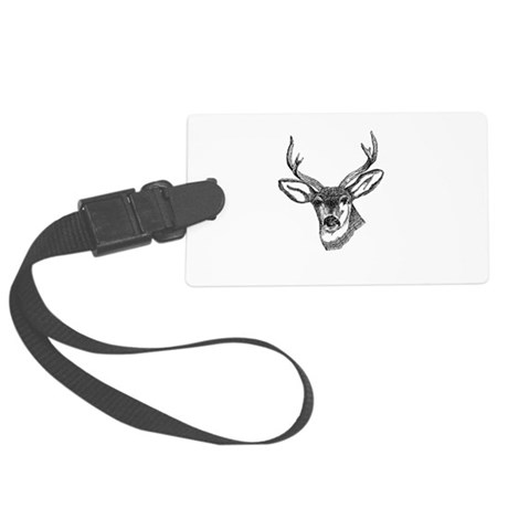 3-deer7.png Large Luggage Tag