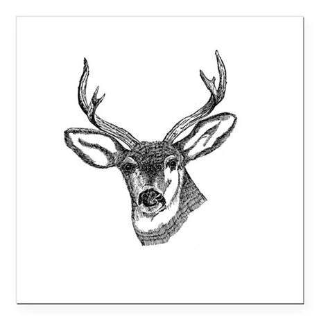 "3-deer7.png Square Car Magnet 3"" x 3"""