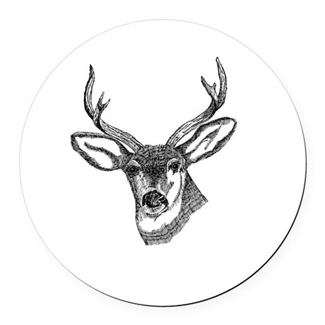 3-deer7.png Round Car Magnet