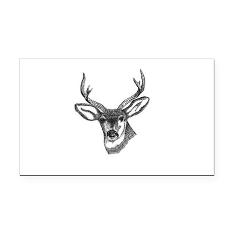 3-deer7.png Rectangle Car Magnet
